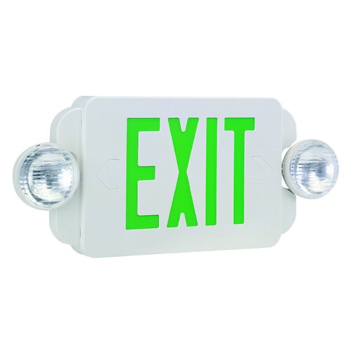 Exit/Emergency Combo Light in Green