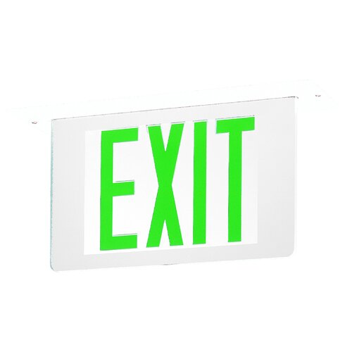 DoubleEdge Recessed LED Exit Sign Light