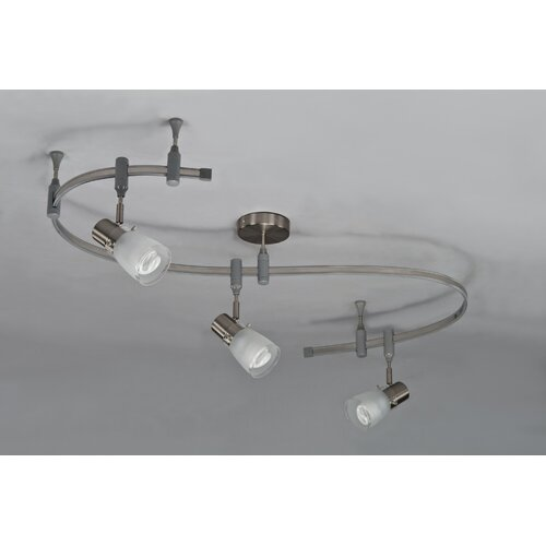 3 Light Flexible Glass Head Track Lighting