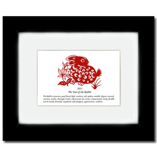 Oriental Design Gallery Year of the Rabbit 11 Framed Graphic Art