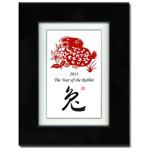 Oriental Design Gallery Year of the Rabbit 16 Framed Graphic Art