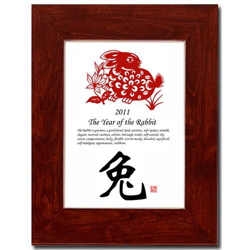 Oriental Design Gallery Year of the Rabbit 02 Framed Graphic Art