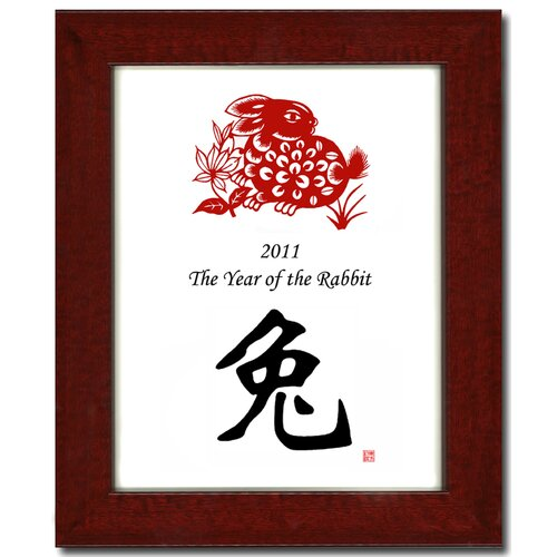 Oriental Design Gallery Year of the Rabbit 08 Framed Graphic Art