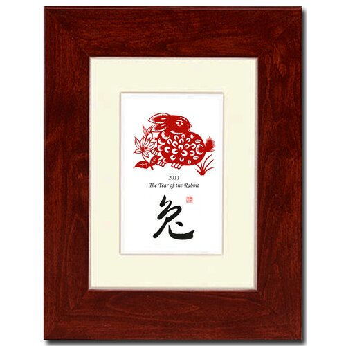 Oriental Design Gallery Year of the Rabbit 17 Framed Graphic Art