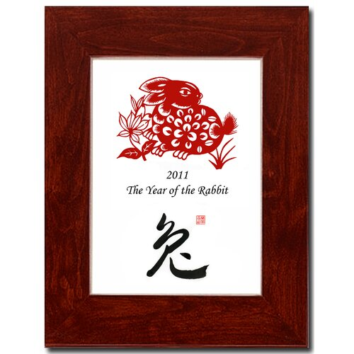 Oriental Design Gallery Year of the Rabbit 19 Framed Graphic Art