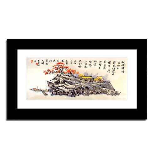 Oriental Design Gallery Fishing Village by Lin Hung Tsung Framed Painting Print