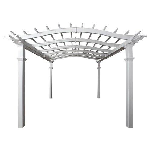New England Arbors Bellagio 9' H x 10' W x 10' D Pergola