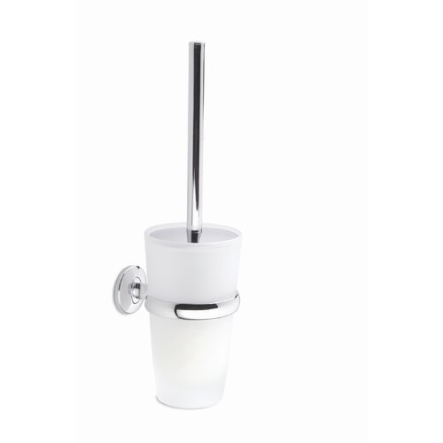 Moda Collection Eos Wall Toilet Brush Holder in Chrome