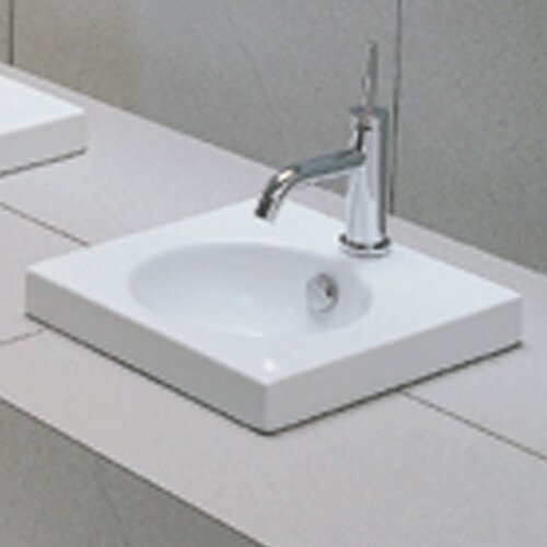 Recessed Bathroom Sink : Moda Collection East Square Semi Recessed Bathroom Sink