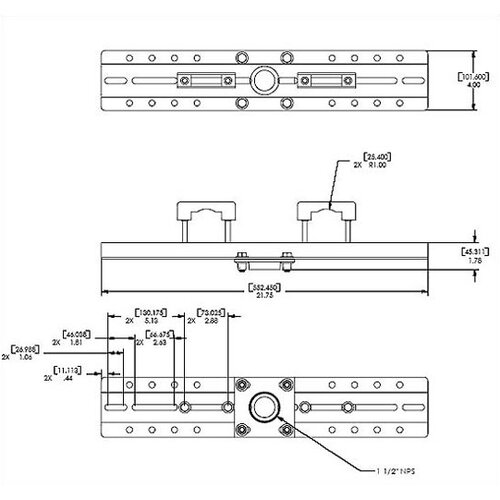 Chief Manufacturing Architectural Spanning Adapter
