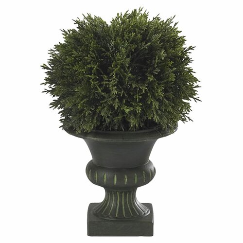 Nearly Natural Cedar Ball Floor Plant in Urn