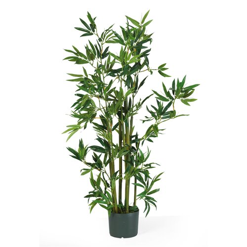 Nearly Natural Silk Bamboo Floor Plant In Pot Reviews