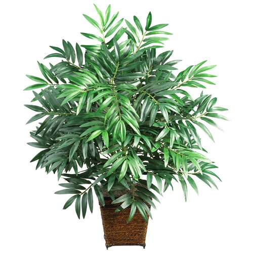 Nearly natural silk bamboo palm floor plant in decorative for Faux bambou plante