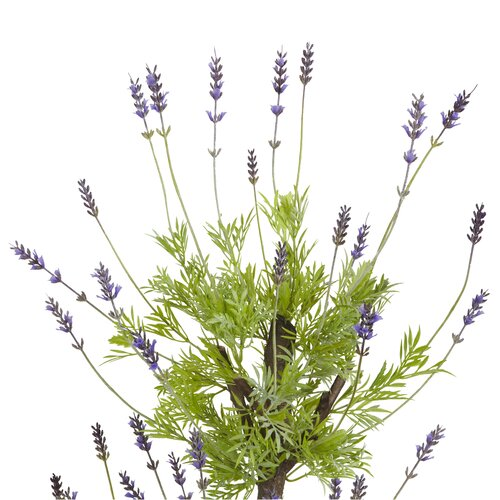 Nearly Natural Lavender Round Topiary in Pot