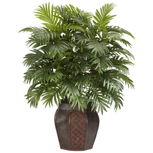 Nearly Natural Areca Palm Floor Plant in Decorative Vase