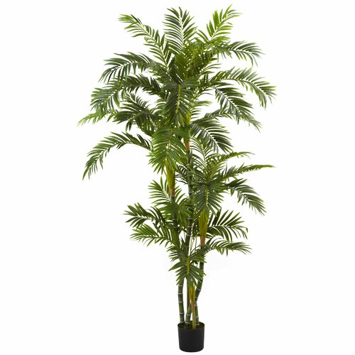 Nearly Natural Curvy Parlor Palm Plastic Tree in Pot