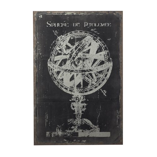 Sterling Industries Chalk Sphere Drawing Graphic Art on Canvas