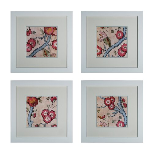 Custom Cottage Vine 4 Piece Framed Graphic Art Set