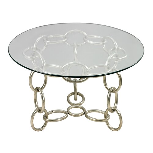 Chain Side Table with Glass Top