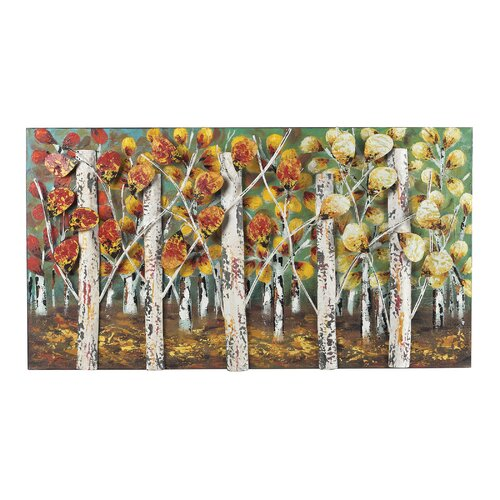 Autumn Birch Graphic Art on Canvas