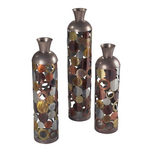 Sterling Industries 3 Piece Rainow Lacquered Floor Standing Vase Set