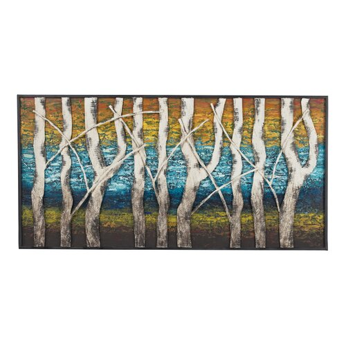 Queen Lake Birch at Dawn Graphic Art Plaque