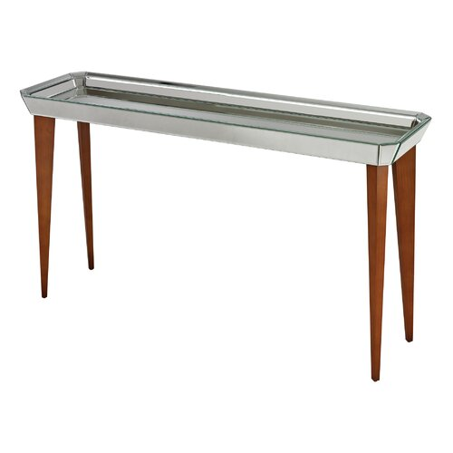 Rushbrook Mid Century Mirrored Console Table