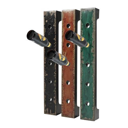 12 Bottle Wall Mount Wine Rack (Set of 3)