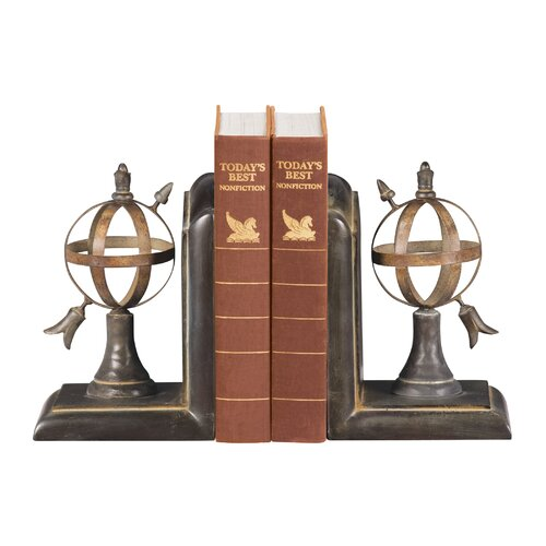 Sterling Industries Arrow and Sphere Book Ends