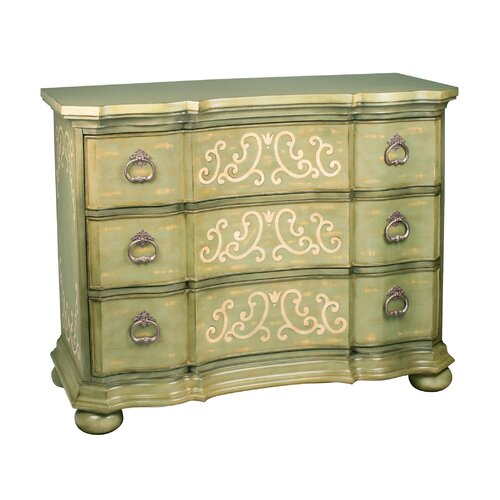 Sterling Industries Argent Scroll 3 Drawer Chest