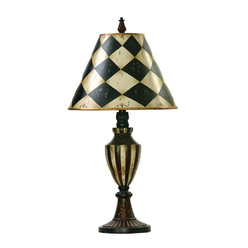 "Sterling Industries Harlequin and Stripe Urn 29"" H Table Lamp with Empire Shade"