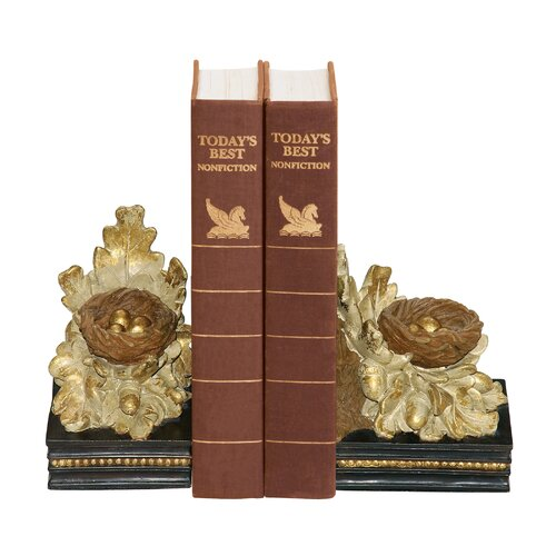 Sterling Industries Oak and Acorn Book Ends