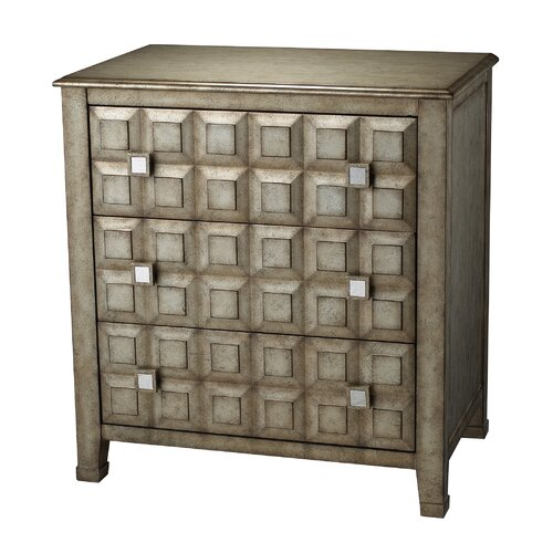 Sterling Industries 3 Drawer Chest with Crystal Handles