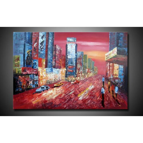 White Walls Hand Painted The Boardwalk Canvas Art