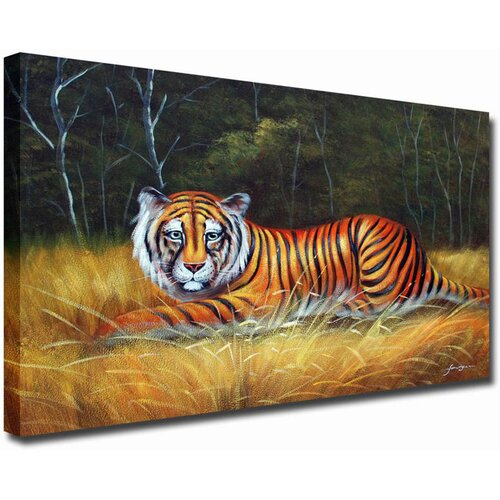 White Walls Snow Tiger Original Painting on Canvas