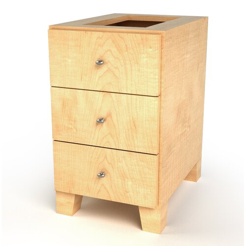 MDV Modular Cabinetry 3 Drawer Base Footed Cabinet