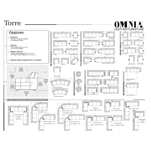 Omnia Furniture Torre Leather Chair