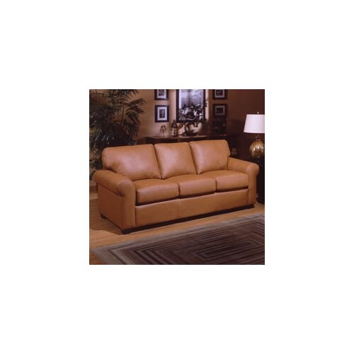 Omnia Furniture West Point Leather Sleeper Sofa