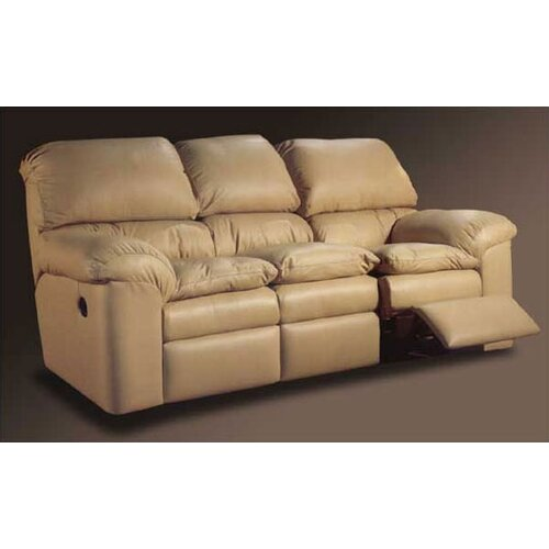 Catera Leather Reclining Loveseat