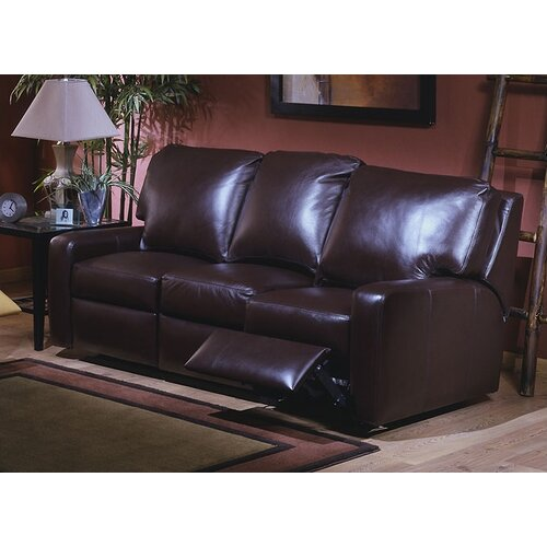 Omnia Furniture Mirage Leather Reclining Sofa