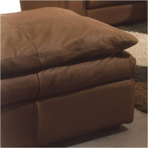 Omnia Furniture Oregon Leather Jumbo Ottoman