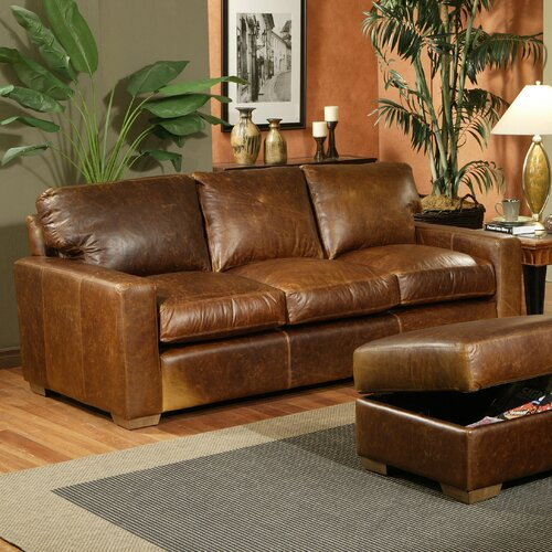 Omnia Furniture City Craft Leather Sofa
