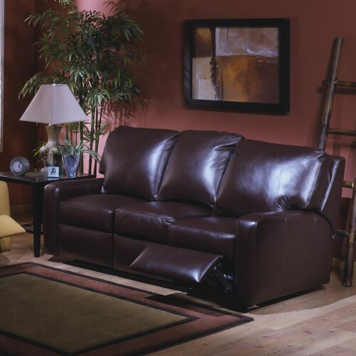 Omnia Furniture Mirage Leather Reclining Loveseat