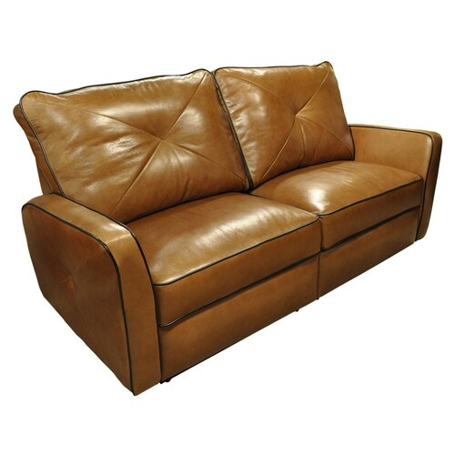 omnia furniture bahama leather reclining loveseat