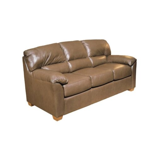 Omnia Furniture Cedar Heights Leather Sleeper Sofa