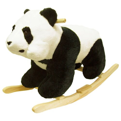 Happy Trails Panda Plush Rocking Animal