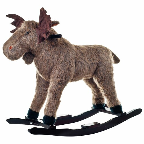 Happy Trails Plush Max Rocking Moose