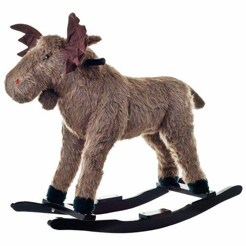 Happy Trails Plush Max Rocking Moose