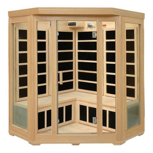 Basic Series 3-4 Person Corner Carbon FAR Infrared Sauna