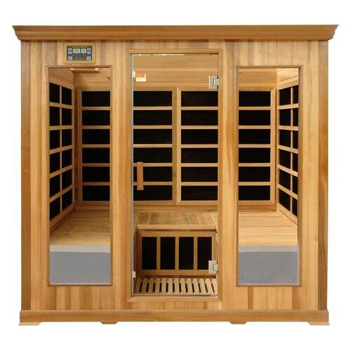 Crystal Sauna Luxury Series 4 Person Carbon FAR Infrared Sauna